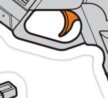 Dreamcast Light Gun (On Blue) Sticker