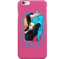 Vibrant Blue Pinup GIrl iPhone Case/Skin