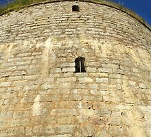 Old tower against the blue sky by mrivserg