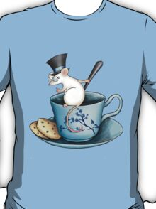 Tea Cup Mouse in Tophat T-Shirt
