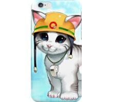 rescue cat  iPhone Case/Skin