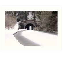 Snowing on the canal at Newbold Art Print