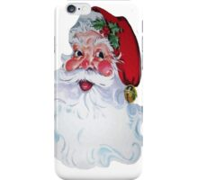 Vintage Style Jolly Santa  iPhone Case/Skin