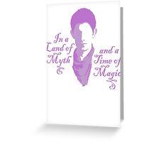 Merlin Myth - purple pale Greeting Card