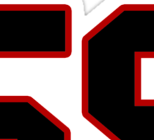 NFL Player Luke Kuechly fiftynine 59 Sticker