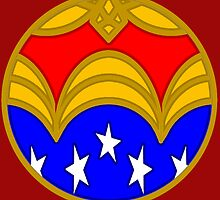 Amazon Princess - Minimal Comic Book Superhero Logo by BagChemistry