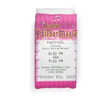 Mickey's Philharmagic Fastpass Duvet Cover