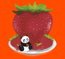 Panda & Strawberries  Kids Clothes