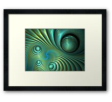 Bubble spiral Framed Print
