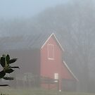 Red Barn Through the Mist... products  by © Bob Hall