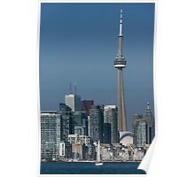 Up Close and Personal - CN Tower, Toronto Harbor and the City Skyline From a Boat Poster