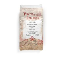 Pirates of the Caribbean- Fastpass Duvet Cover