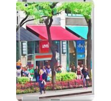 Chicago IL - Shopping Along Michigan Avenue iPad Case/Skin