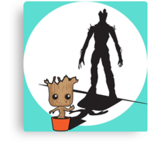 Gainz like Groot Canvas Print