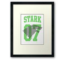 House Stark Jersey Framed Print