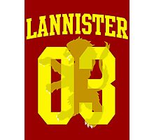 House Lannister Jersey Photographic Print