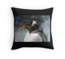 Sleepy Snowy Penguin Throw Pillow