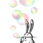 Rabbit with Bubbles by HanaStupica