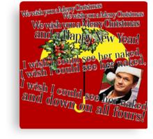 Barney Stinson - Merry Christmas Canvas Print