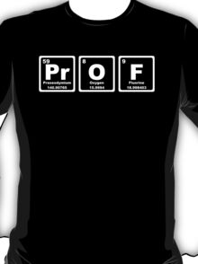 Prof - Periodic Table T-Shirt