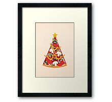 Pizza on Earth - Vegetarian Framed Print