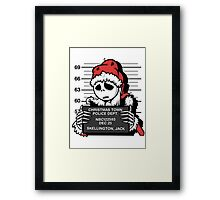 Jack's Nightmare After Christmas Framed Print