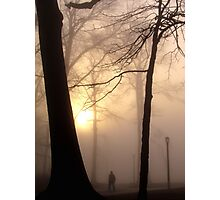 Foggy morning in New York City  Photographic Print