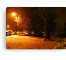 """""""A Snowy Evening in Knoxville"""" (no.4, from this series)... products  Canvas Print"""