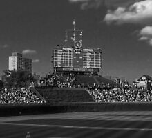 Ballpark Shadows #3 by don thomas