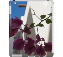 Contemplating Mediterranean Vacations - Whitewashed Walls and Bougainvilleas iPad Case/Skin
