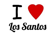 I Heart Los Santos Photographic Print