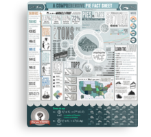 Pie: A Comprehensive Infographic Metal Print