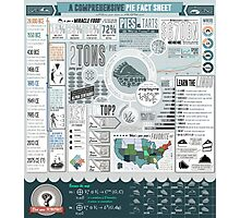 Pie: A Comprehensive Infographic Photographic Print