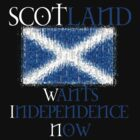 Scotland Wants Independence Now Design by Sookiesooker