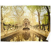 Paris - Fountain - Garden of Luxembourg Poster