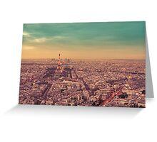 Paris - City of Lights at Sunset Greeting Card