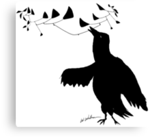 Smart Bird Canvas Print