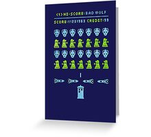Dr Who: Space Invader Greeting Card