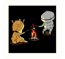 Bonfire Buddies - Dark Souls Art Print