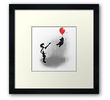 Little Black Rain Cloud Framed Print