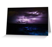 Ocean Lightning Greeting Card
