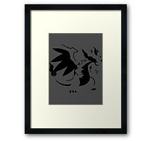 【1700+ views】Pokemon Mega Charizard X Framed Print