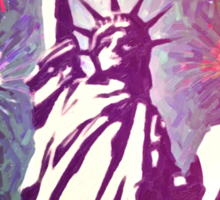 Statue Liberty 4th of July Fireworks 2a Sticker