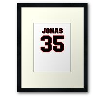 NFL Player Jonas Gray thirtyfive 35 Framed Print