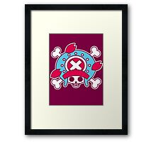 【2600+ views】ONE PIECE: Jolly Roger of TonyTony Copper Framed Print