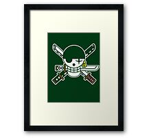 【6800+ views】ONE PIECE: Jolly Roger of Roronoa Zoro Framed Print
