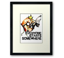 Magikarp Everyone Starts Somewhere Framed Print