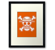 【4000+ views】ONE PIECE: Jolly Roger of Straw Hat III Framed Print