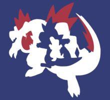 【13800+ views】Pokemon Totodile>Croconaw>Feraligatr T-Shirt