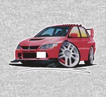 Mitsubishi Evo IX Red Kids Clothes